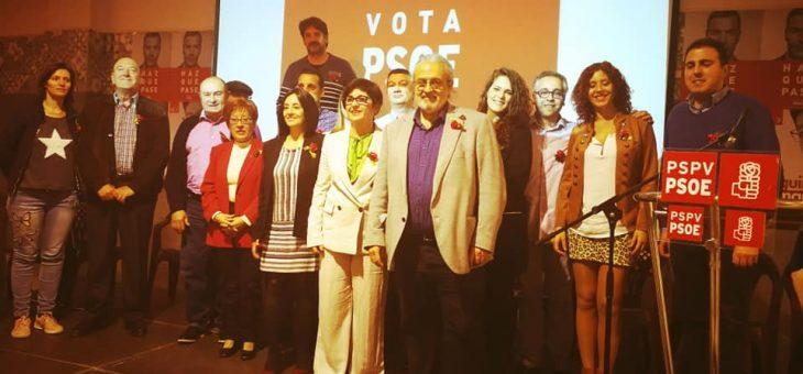 Presentación de nuestra candidatura para las elecciones municipales de Buñol
